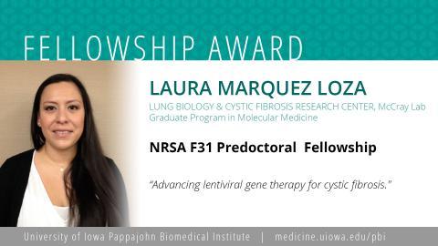 Laura Marquez Loza F31 Fellowship
